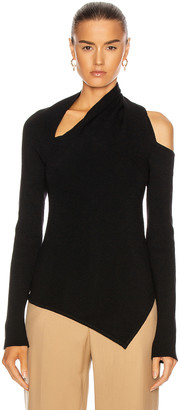 Monse Sliced Long Sleeve Knit Top in Black | FWRD