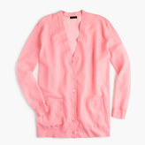 J.Crew Collection cardigan sweater in gauzy cotton