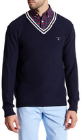 Gant Sporty Knit V-Neck Sweater
