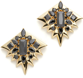 Noir Clear Cut Earrings