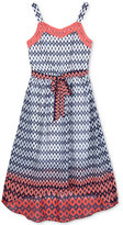 Amy Byer Geo-Print Maxi Dress, Big Girls (7-16)