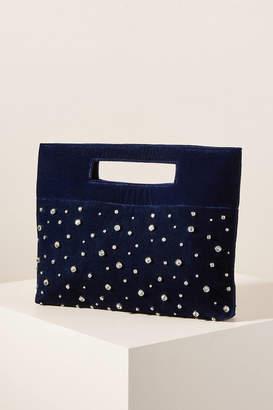 Anthropologie Embellished Velvet Crossbody Bag
