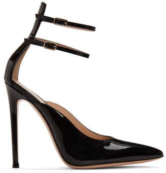 Gianvito Rossi Black Patent Kristi Heels