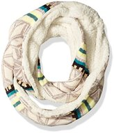 Woolrich Women's Jacquard and Sherpa Eternity Knit Scarf