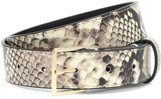 Altuzarra Snake-effect leather belt