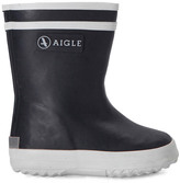 Aigle Fur-Lined Baby Flac Fur Rain Boots