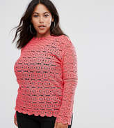 Club L Plus Crochet Lace Top