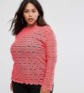 Club L Plus Crochet Lace Top
