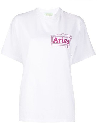 Aries logo-print crew neck T-shirt
