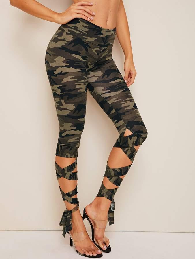 4e5f476417360c Women Army Print Pants - ShopStyle