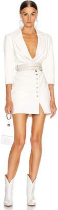 retrofete Willa Leather Dress in White   FWRD