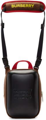 Burberry Black and Brown Nylon Molded Crossbody Bag