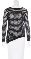 Inhabit Open Knit Asymmetrical Sweater
