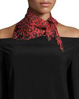 Marc Jacobs Leopard-Print Silk Square Scarf