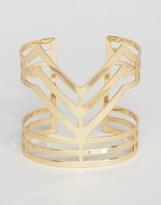 Ruby Rocks Structured Cuff Bracelet