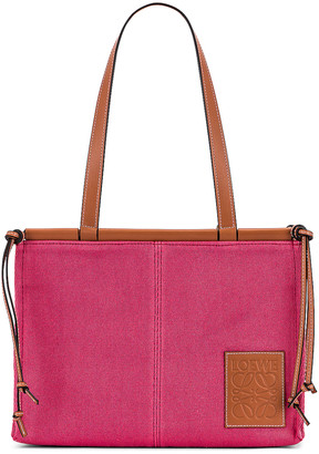 Loewe Cushion Tote Small Bag in Raspberry | FWRD