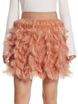 Alice + Olivia Cina Feather Party Skirt
