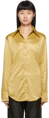 Acne Studios Gold Satin Shirt