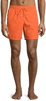 Vilebrequin Moorea Water-Reactive Solid Swim Trunks, Orange