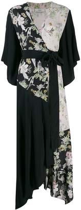 Pringle floral print kimono wrap dress
