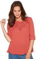 M&Co Lace yoke blouse