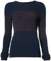Jason Wu ribbed knit jumper - women - Viscose - XS