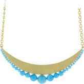 Irene Neuwirth Jewelry Kingman Turquoise Gold Pendant Necklace