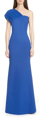Chiara Boni Thomasi One-Sleeve Trumpet Gown