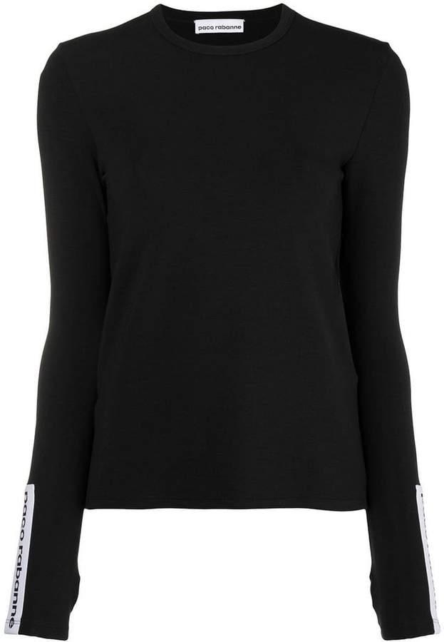 Paco Rabanne logo long sleeve T-shirt