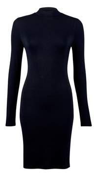 Dorothy Perkins Womens Black Plain Jersey Bodycon Dress, Black