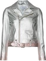 IRO ombré biker jacket - women - Lamb Skin/Rayon - 34