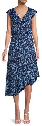 Parker Floral-Print Silk Midi Dress