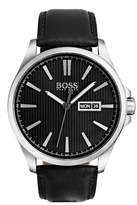 HUGO BOSS Men's The James Leather Watch, 42mm