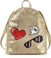 Love Moschino Sparkling Metallic Gold Backpack