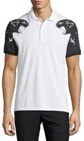 Valentino Panther-Print Polo Shirt