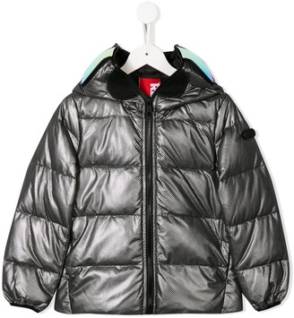 AI Riders On The Storm Hooded Puffer Jacket