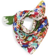Sole Society Women's Floral Print Silk Bandana