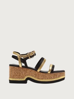 Salvatore Ferragamo Women Wedge sandal Black Size 4.5