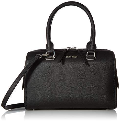 Calvin Klein Mercy Saffiano Leather Key Item Bowler Satchel