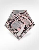 Ciclamini - Printed Silk Square Scarf