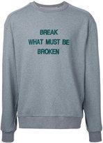Juun.J slogan front sweatshirt - men - Cotton - 44