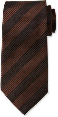 Tom Ford Contrast-Stripe Silk Tie
