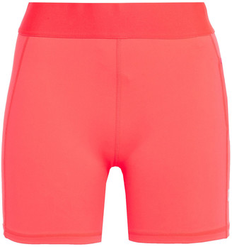 adidas Mesh-trimmed Printed Neon Stretch Shorts