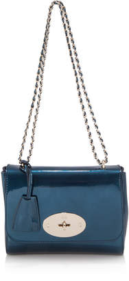 Mulberry Blue Grained Leather Lily