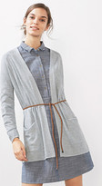 Esprit EDC - Linen mix cardigan w tie-around belt