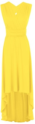 FYMNSI Women Bridesmaid Dress Convertible Multi Way Wrap Wedding Evening High Low Dress Sleeveless Backless Bandage Maxi Gown Solid Color Elegant Formal Party Cocktail Ball Prom Summer Beach Sundress