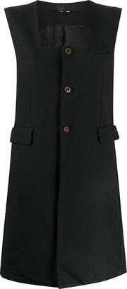 Comme des Garçons Comme des Garçons Sleeveless Square-Neck Dress