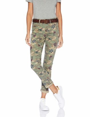 Seven7 Women's High Rise Slim Straight in Camo