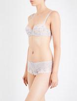 Passionata White Nights mesh underwired balconette bra