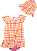 Isaac Mizrahi Gingham Sundress & Sunhat 2-Piece Set (Baby Girls 0-9M)